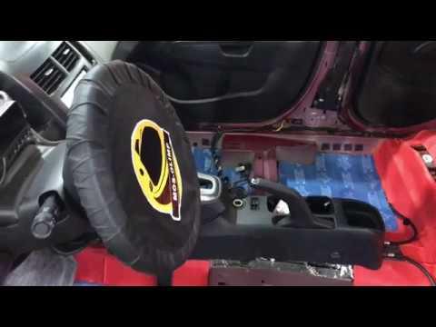 Chevrolet Aveo шумоизоляция пола (днища автомобиля изнутри) премиум материалами Комфортмат