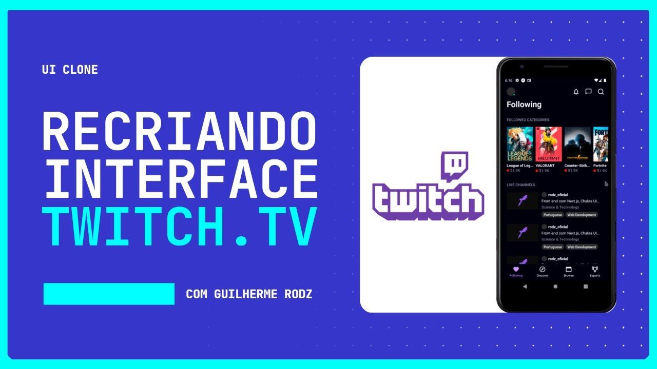 Interface da Twitch.tv | UI Clone