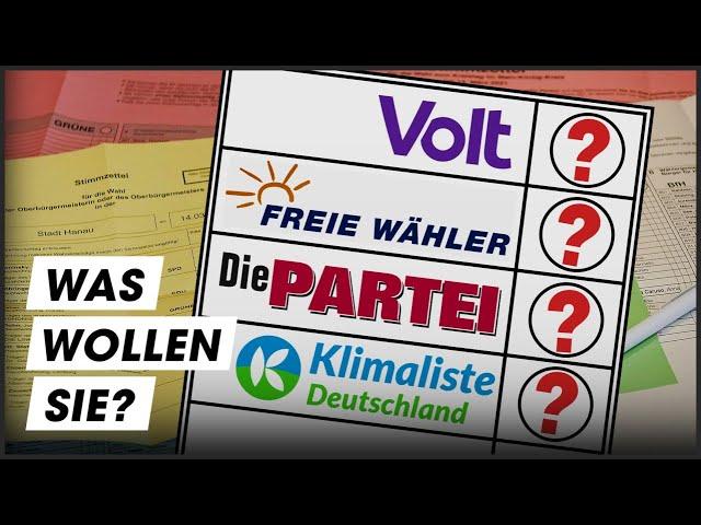 Die Partei, Volt und Co: Kleinparteien im Check!