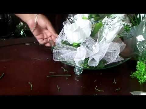 Como hacer un centro de mesa para boda youtube - Cosas para preparar una boda ...