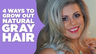 How To Grow Out Natural Gray Hair | Maryam Remias