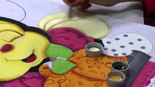 Pintura em tecido abelinha Parte 2/2