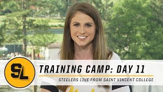 Practice Report from Day 11 of Pittsburgh Steelers Training Camp