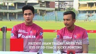 Prithvi Shaw Trains Under The Eye Of Dd Coach Ricky Ponting