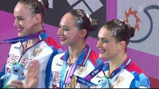 Золото у сборной РФ по синхронному плаванию,