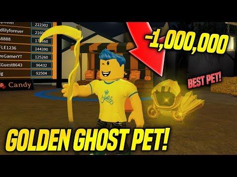 I GOT THE BEST PET IN PUMPKIN CARVING SIMULATOR UPDATE!! *GOLDEN GHOST* (Roblox)