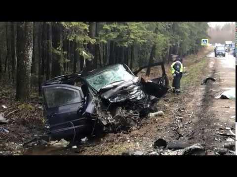 Видео с места смертельного ДТП возле деревни Елизарово
