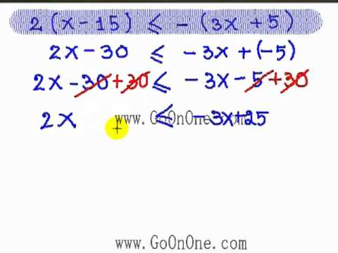 อสมการ เชิงเส้นตัวแปรเดียว EX3