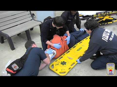 ems training how to apply full spinal immobilization using a