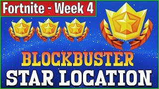 Secret Week 4 Blockbuster Star Location Guide - Fortnite Week 4 Battlestar Challenge