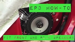 EP3 Civic Type R -Front and rear speaker DIY installation HOW TO. Works with EP2 also.