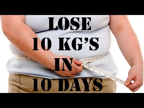 how to lose 10kg in 5 days