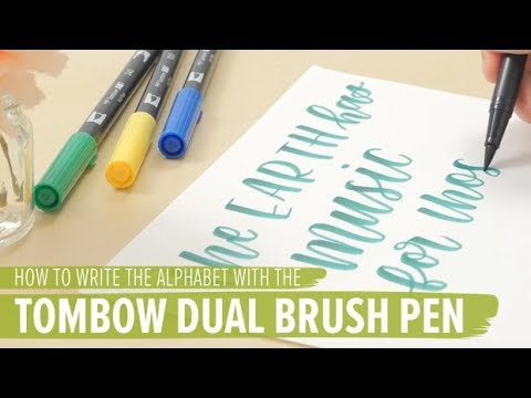 How To Write The Alphabet With The Tombow Dual Brush Pen Youtube