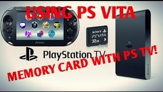 PS TV/VITA Hacks 3.60! Using PS Vita Memory Card With PS TV!!!