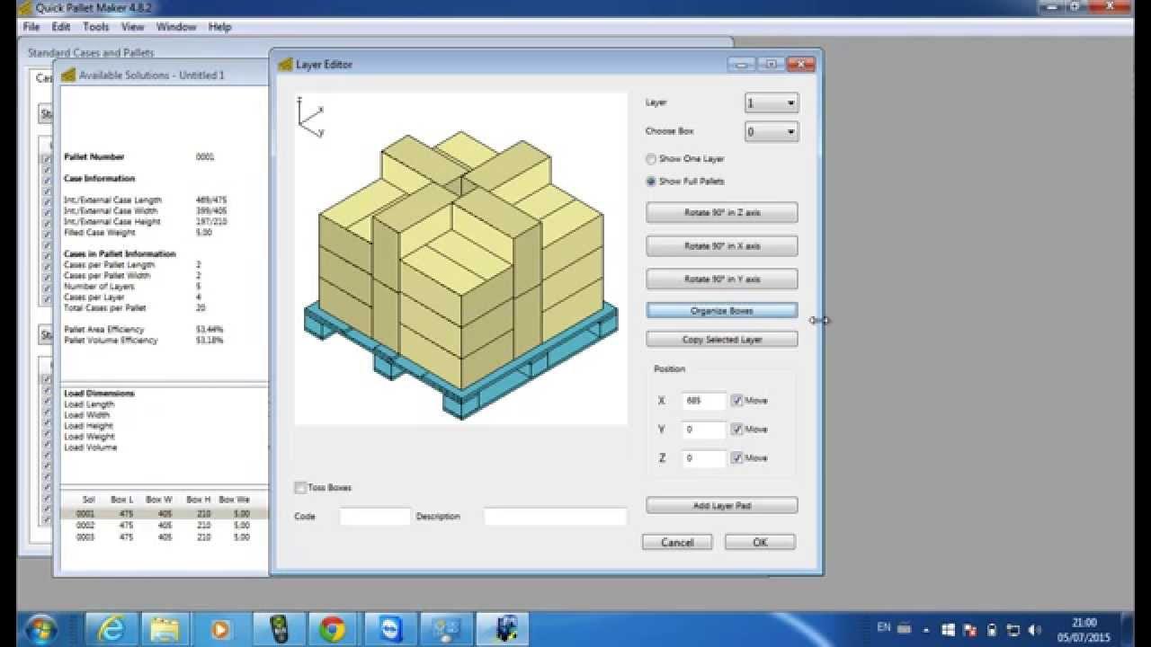 Quick Pallet Maker - Packaging Software