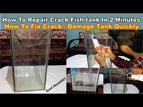 How To Fix A Cracked Aquarium Tank In Hindi