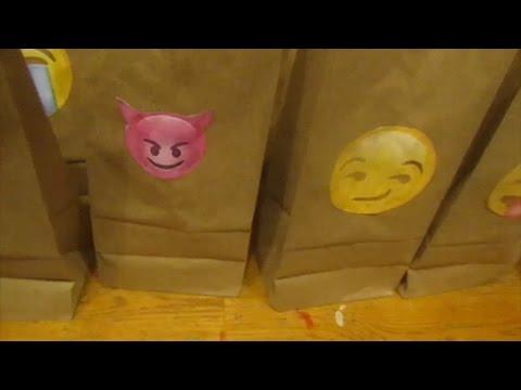 Simple, Cute DIY Emoji Goodie Gift Bags - March 25, 2017