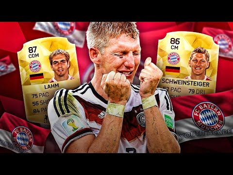 MANCHESTER UNITED MOURINHO VS SCHWEINI BEST BAYERN MUNICH YOUTH ACADEMY SQUAD! FIFA 16 ULTIMATE TEAM
