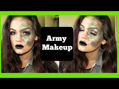 Army Girl Makeup | #13DaysofHalloween - YouTube