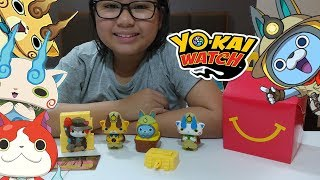 2018 McDonald's Happy meal Yo-Kai watch (complete set of 4)
