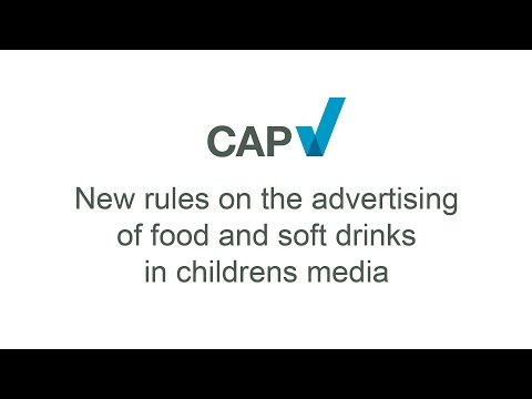 New advertising rules for food and soft drinks in childrens media