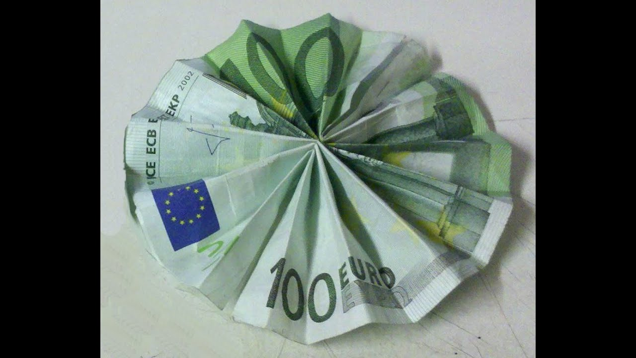 Geld Gutschein Basteln Fahrrad Fold Sun Out Of Banknote Folding The Sun Out Of Money Creative Money Gift Money Origami