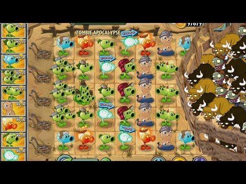 Plants vs Zombies 2 Todos los Guisantes vs Los Toros Locos x2000