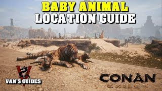 Conan Exiles - Baby Animal Pet Locations Guide (10.11.18)