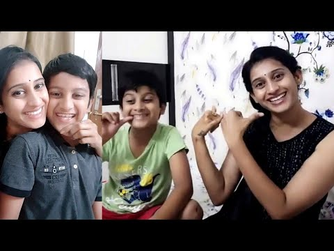 Meena Vasu cute Dusbmash with her Son | Suryavamsham Serial Actress