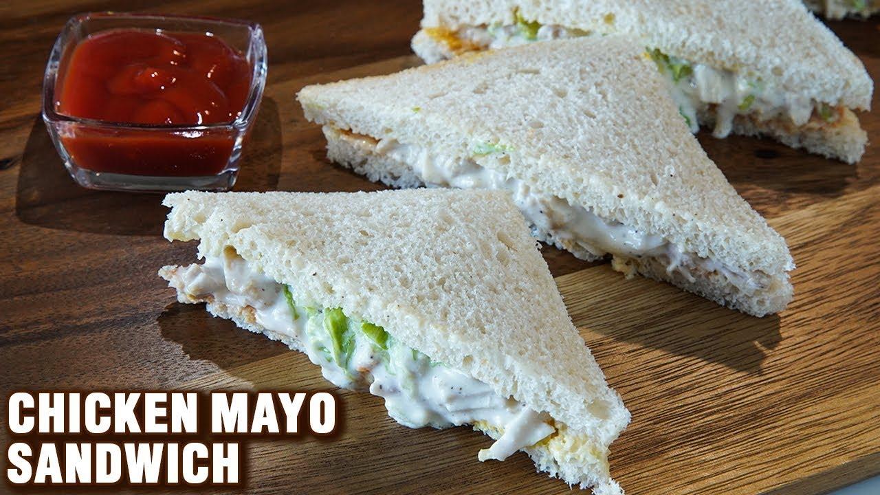 Chicken Mayo Sandwich How To Make Chicken Sandwich Chicken Mayonnaise Sandwich Recipe Smita Youtube