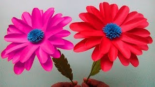 Flowerupc How To Make Paper Flowers At Home Stick Flowers