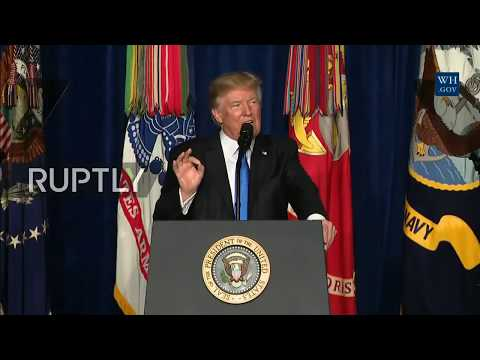 LIVE: Trump gives address on strategy for Afghanistan and South Asia