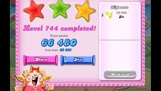 Candy Crush Saga Level 744   ★★★   NO BOOSTER