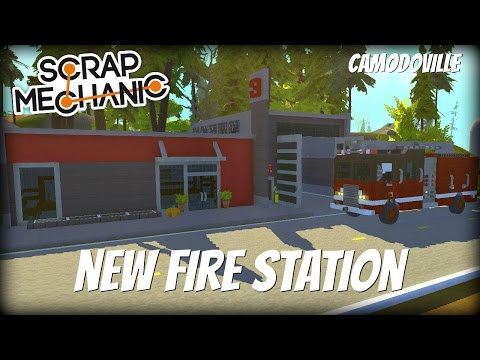 Scrap Mechanic Town- EP 134- New Fire Station & Town Name Reveal (World Download)