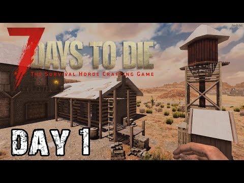 7 Days To Die | Day 1 | A Good Start (Alpha 18 Random Map Playthrough)