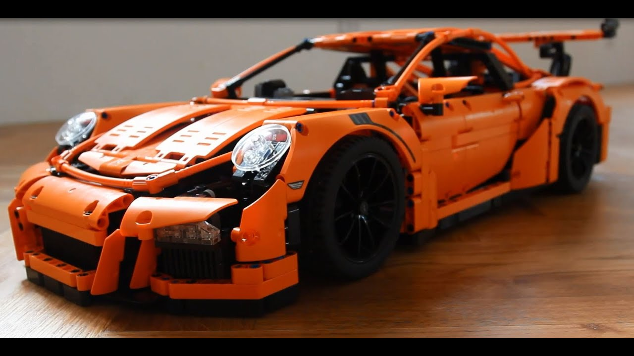 lego technic porsche 911 gt3 rs 42056 with power functions remote control youtube. Black Bedroom Furniture Sets. Home Design Ideas