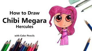 How to Draw Chibi Megara from Hercules Step by Step - very easy