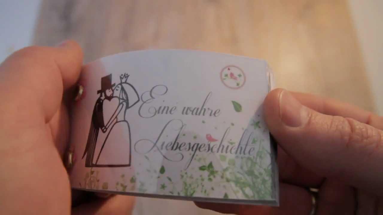 Daumenkino Als Hochzeitseinladung