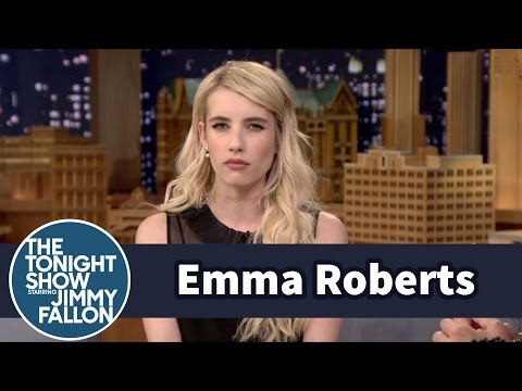 Emma Roberts Teaches Jimmy How to Perfect a Bitch Face