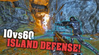 Defending Our Island Against All Odds! 10vs60 | Ark PVP Official E#46