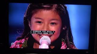 "Celine Tam from Hong Kong -- singing ""When You Believe"" Semi-Final in America"