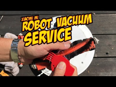 DIY Xiaomi Mi Robot Vacuum cleaning & service: Brushes and Filter Replacement