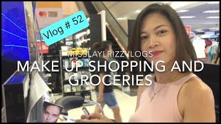 Vlog #52 Shopping for Make-up and Grocery Day |MISSKAYKRIZZ (Philippines)