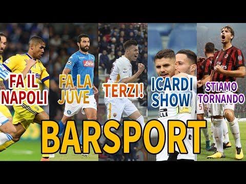 LA JUVE FA IL NAPOLI; INTER FORZA 5  MILAN: NON SI MOLLA UN CA**O | Bar Sport