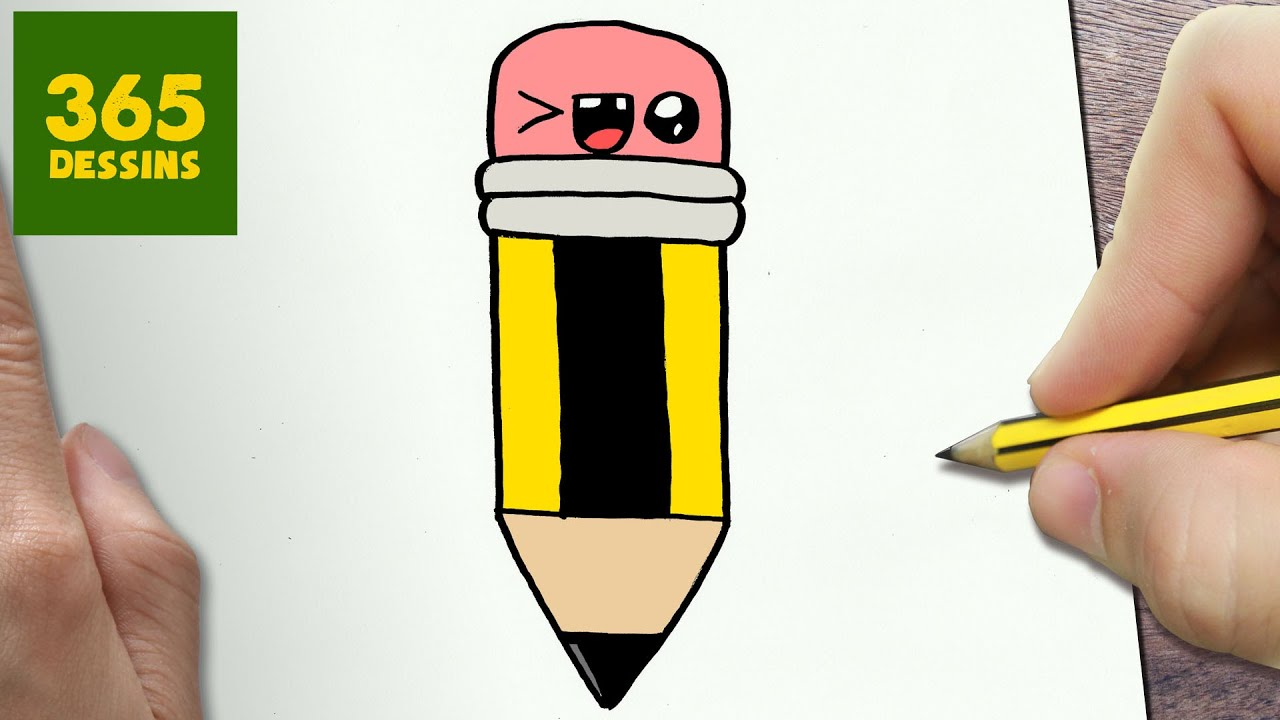 Comment Dessiner Crayon Kawaii Etape Par Etape Dessins Kawaii