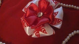 DIY Бантики канзаши для девочки. Урок для начинающих