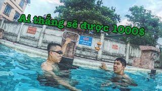 Dũng Nguyễn R6 thắng Tới Tài Tử 1000$ | Thi xem ai ở dưới nước lâu hơn ...