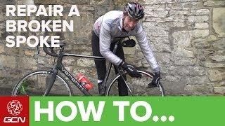 How To Repair A Br๐ken Spoke - GCN's Roadside Maintenance Series