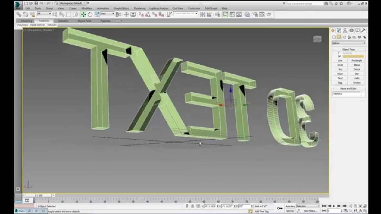 3ds max tutorial 8 make a 2d drawing or text into a 3d for 2d blueprint maker