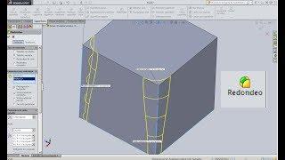 Modelado de superficies Redondeo en Solidworks 2014